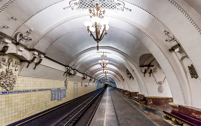 self-guided moscow metro tour